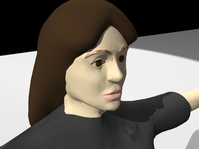 3d lady forensic model