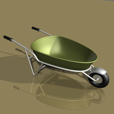 wheelbarrow wheel 3ds