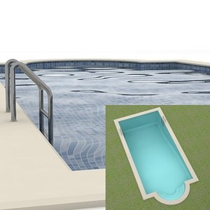3ds max swimming-pool swimming