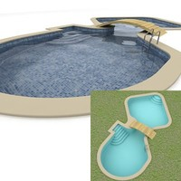 3d swimming-pool swimming