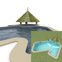 3d swimming-pool swimming model