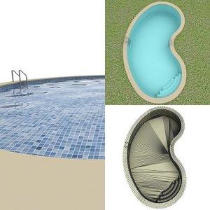 3d model swimming-pool swimming