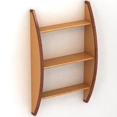 3dsmax bookshelf shelf