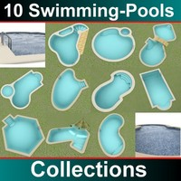 10 swimmingpools 3d max