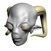 3d model of demon head