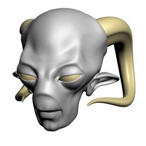 3d model of demon head