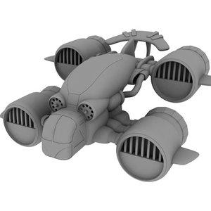 3d dropship transport spacecraft model