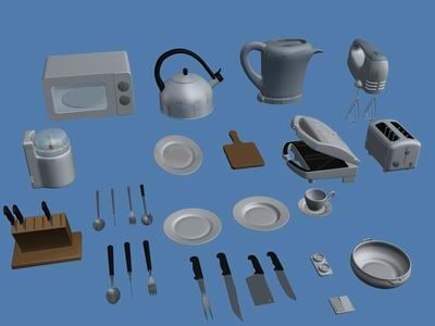 3ds max kitchen equipment