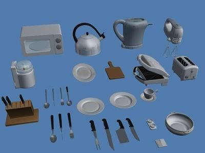 3ds max kitchen equipment