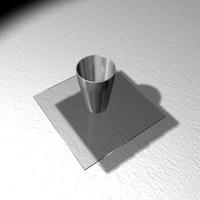free steel glass 3d model