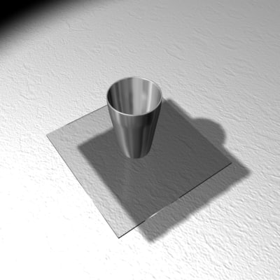 free steel glass 3d model