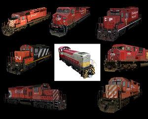 freight locomotives 3d model