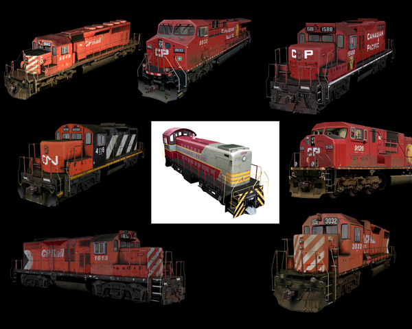 freight locomotives 3d model