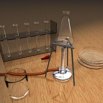 lab equipment 3d c4d
