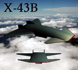 3d x-b spaceplane model