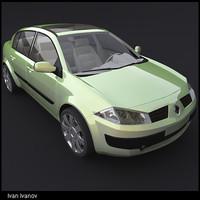 3d renault megane ii sedan model