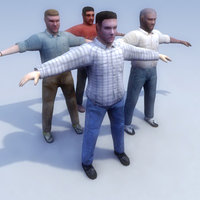 Casual-Male_4Set_3DModel