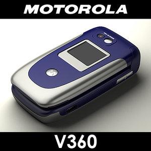 motorola v360 cell phone obj