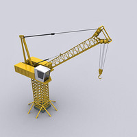 tower crane luffering 3d max