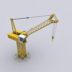 tower crane luffering 3d max