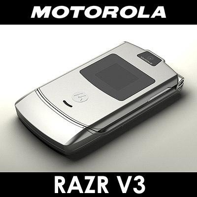3d motorola v3 razr cell phone