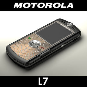 motorola l7 cell phone 3d model