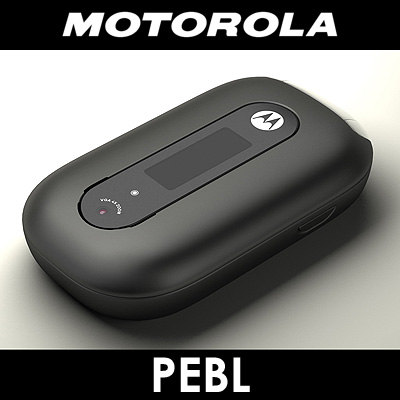 3d model motorola u6 pebl cell phone