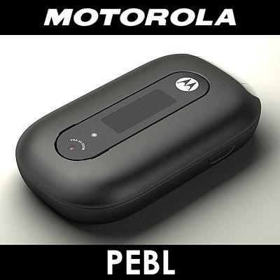 3d model motorola u6 pebl cell phone