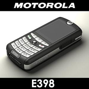 motorola e398 cell phone 3d max