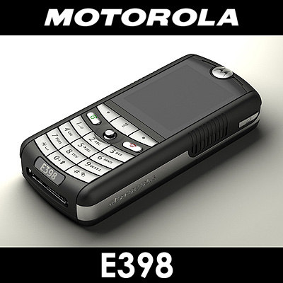 motorola e398 cell phone 3d max