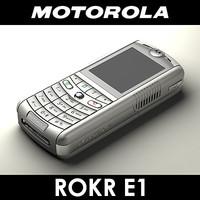 motorola e1 rokr cell phone 3d obj