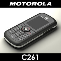 motorola c261 cell phone 3d max