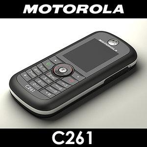 motorola c261 cell phone 3d max