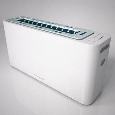 toaster rowenta 3d obj