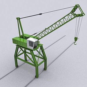 3d crane port model