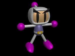 free bomber man bomberman 3d model