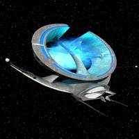 manta space ship 3d model