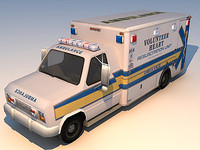 ambulance van 3d max