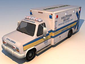 ambulance van 3d max