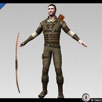 ranger character edgeloop 3d max