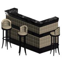 bar counter chair 3d model