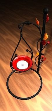 3d candle candleholder model