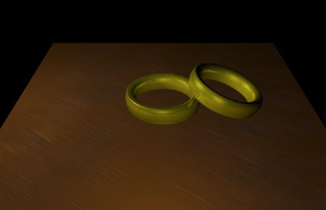 gold rings 3d model