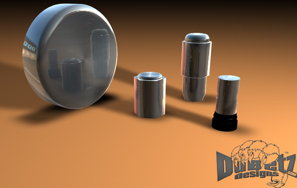 polished accessories wheel 1 3d model