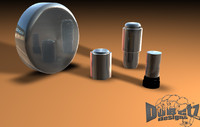 3d model of polished accessories wheel 1