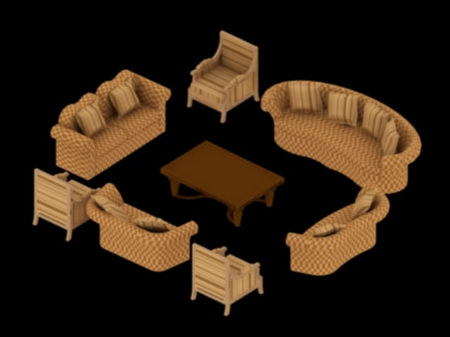 chair sofa living room 3d max
