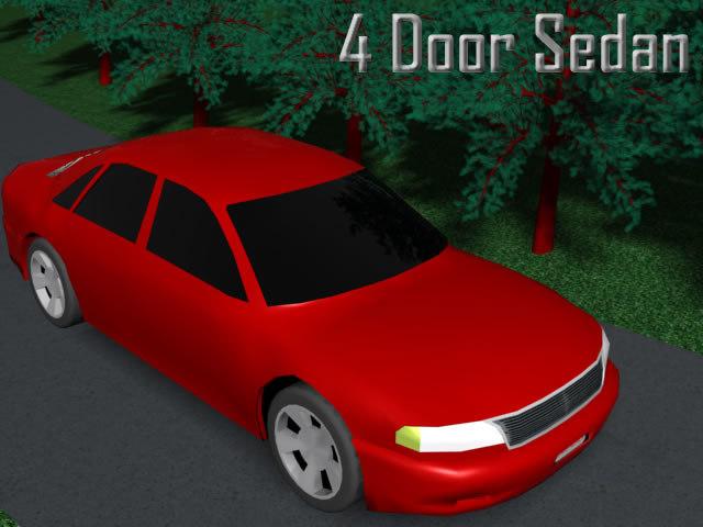 3d 4 door sedan model