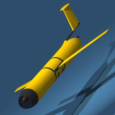 sea uav robots underwater 3ds
