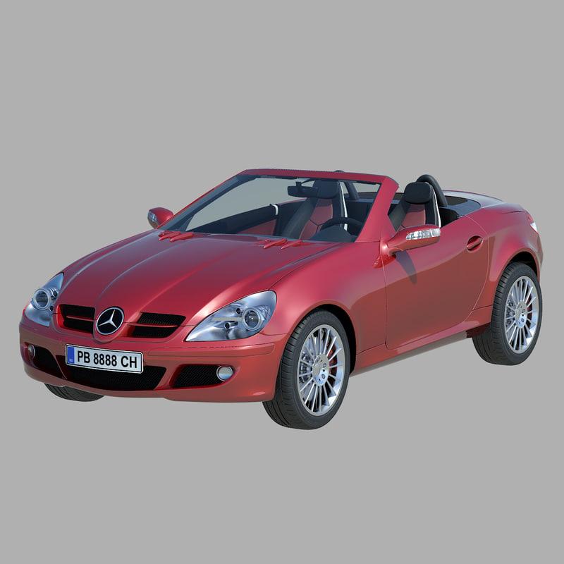 mercedes slk 2004 s 3d model