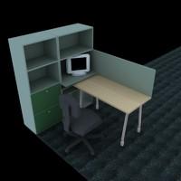 work station 3d model